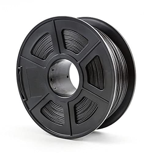 PETG Carbon Fiber Filament 1.75mm 3D Printer Filament 1kg 2.2lb Spool Carbon Fiber Reinforced PETG Material Black Filament
