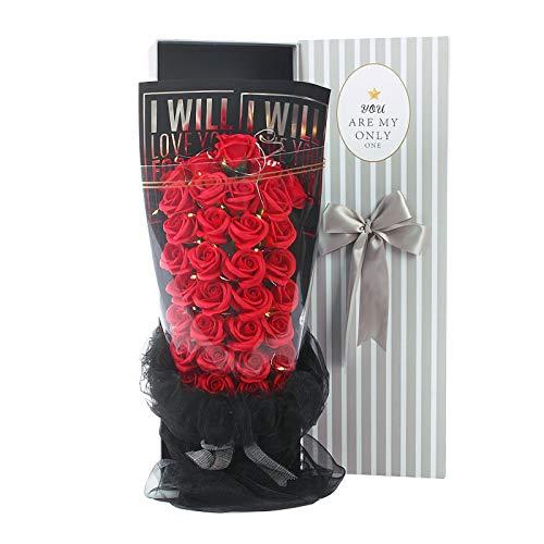 YANFANG Flor de Jabón Caja de Regalo Rose Flores Artificiales Decoración para Bodas Regalos de cumpleaños Regalos de San Valentín