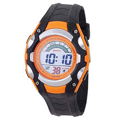 Mingrui - Reloj digital deportivo sumergible para niños, con cronómetro y alarma, color negro