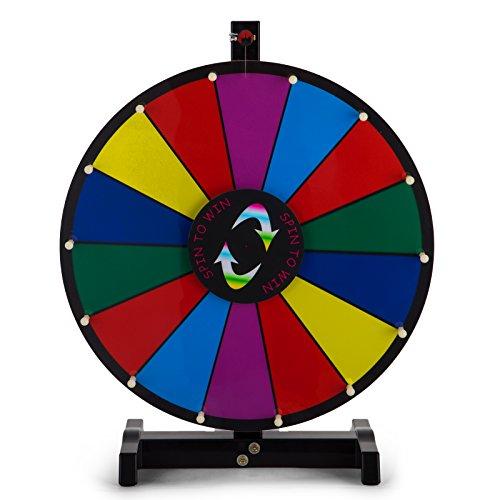 Happybuy mesa color premio rueda con plegable trípode soporte de suelo ranuras Colorful Feria de borrado en seco fortuna Spinning premio rueda para Spin Juego Carnaval, 60,96 cm, 24 inch