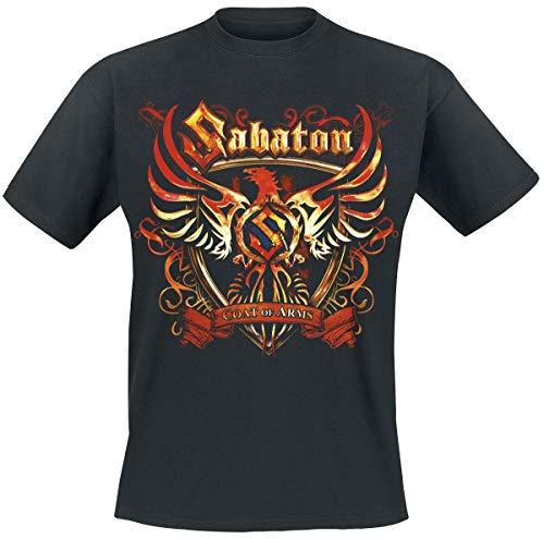 Sabaton Coat of Arms Männer T-Shirt schwarz L 100% Baumwolle Undefiniert Band-Merch, Bands