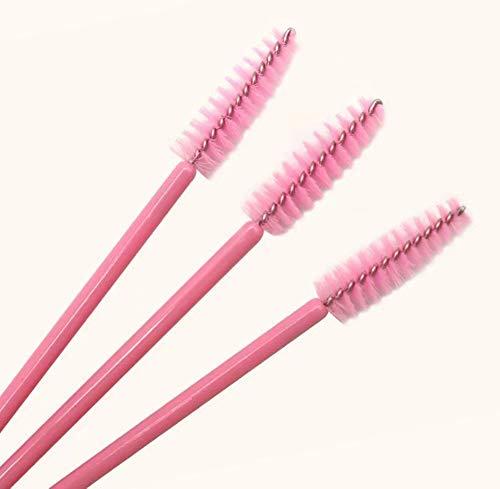 LINSUNG 100Pcs Jetable Brosse de Cils Yeux Mascara Maquillage Mini Cils Mascara Baguette Peigne à Sourcil Pinceau Maquillage Outil de Cosmetique