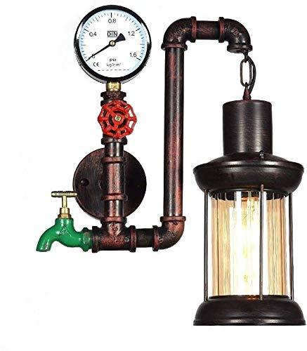 Lámpara De Pared Simple Y Fresca E27 retro Steampunk del tubo de agua del keroseno lámpara de pared de la Industria de la vendimia de iluminación de la sala restaurantes Verde grifo ligero de la pared
