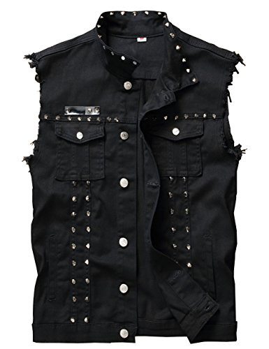 Men's Sleeveless Jean Jackets