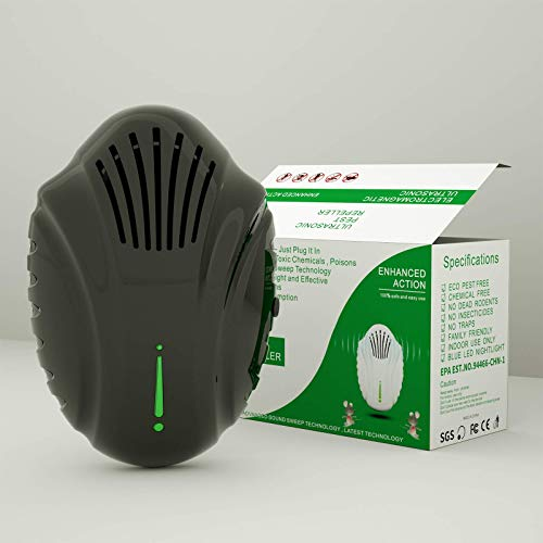 Ultrasonic Pest Repeller Electronic Plug in - Newest Mosquito Repellent & Indoor Rodent Repelling System for Repel Rodents,Mites,Bat,Mosquito,Pest,Mice,Rat,Ants,Roach, Safe for Humans & Pets