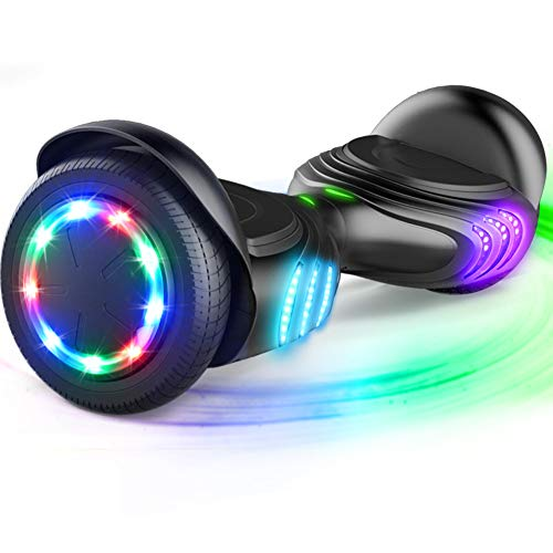 TOMOLOO Hoverboard with Bluetooth Speaker and LED Lights Self-Balancing...