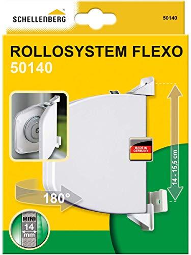 Schellenberg 50140 Mini Enrouleur à Visser Flexo Pouvant Être Ouvert Blanc