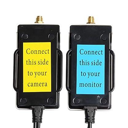 Sumicline-12V-24G-Drahtloses-Farb-AV-Sende-und-Empfaengerkit-fuer-das-Rueckfahrkamerasystem-die-Einparkhilfe-Kamera