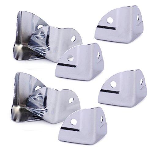 8 Stck. Metall-Eckwinkel-Strebenschutz für Holzkoffer Truhenkoffer Flightcase