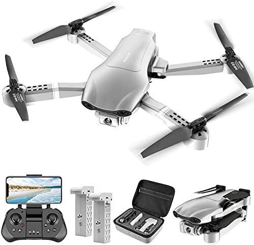 4DRC ドローン カメラ付き GPS搭載 4K HDカメラ 飛行時間30分 フォローミーモード 90°調整可能なデュアルカメラ リアルタイム伝送 折り畳み式 高度維持 自動リターンモード 高度保持 収納ケース付き2.4GHz国内認証済み 4D-F3