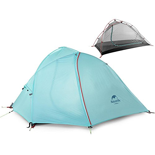 Camping Camping Ultra-léger Tiges en aluminium Double couche Tente anti-pluie, 1/2 personne , blue , 2