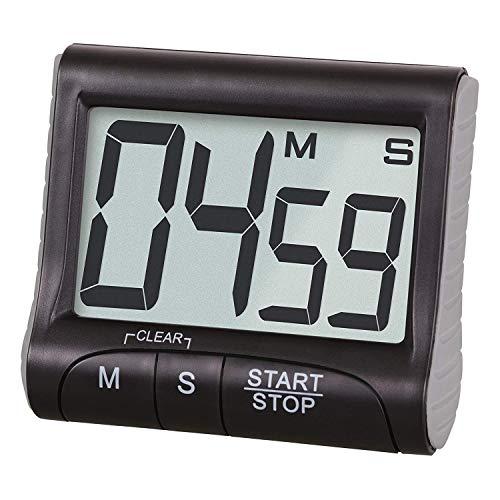 Power Banks Digitale keukenwekker met luide magneetwekker, groot LCD-scherm, piepende multifunctionele functie, voor leraren, stopwatch met groot display, zwart