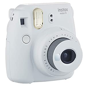 Fujifilm instax mini 9 Instant Film Camera (Smokey White) + Fujifilm Instax Mini Twin Pack Instant Film (80 Shots) + Camera Case + AA Batteries + Accessory Bundle - International Version (No Warranty)