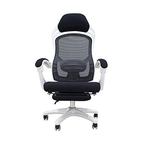 Computer stoel Home Reclining bureaustoel, eenvoudig spel E-Sports stoel Mesh Swivel stoel Lunch Break stoel Retro size Kleur: wit