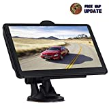 GPS Navigation for car 7-inch HD Display 256MB-8GB Real Voice Broadcast Route Loading North America Map Contains (United States Canada Mexico Map) Lifetime Map Free Update