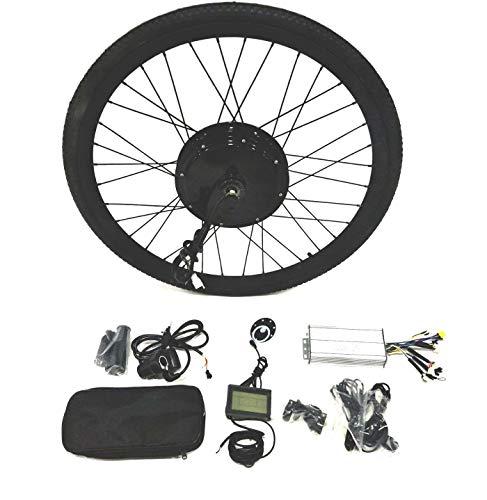 "theebikemotor 48V1500W Hub Motor Ebike Bicicleta ELÉCTRICA Kit DE CONVERSIÓN + LCD+ Tire (Front Wheel, 29"")"