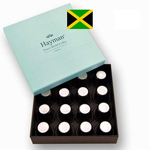 100% Jamaica Blue Mountain coffee pods compatible with Nespresso®* Original Machines - One of the world's best coffees, freshly roasted for you on shipment day! (Box with 16 pods)
