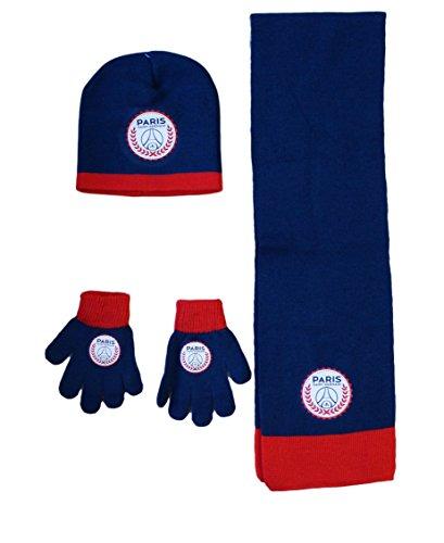 PSG Mütze mit Handschuh, Motiv Paris Saint Germain, Neymar, offizielles Lizenzprodukt