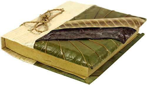 Guru-Shop Klein Notitieboekje Bananenblad, 10x12x2 cm, Notitieboekjes Dagboeken