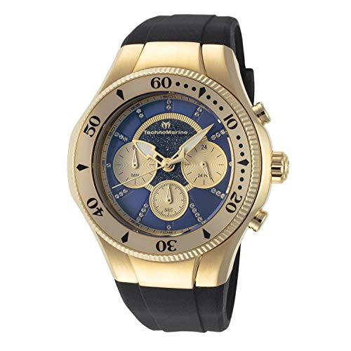 Technomarine TM-118146 Cruise Men's 45mm Gold-Tone Blue Gold Dial Watch