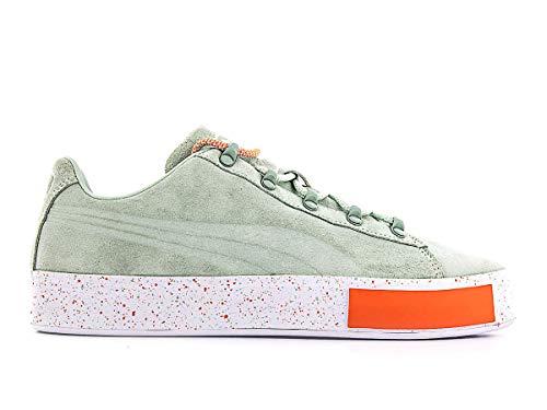 Puma, scarpe per Daily Paper, Court Platform S, Gossamer Green, 4,5