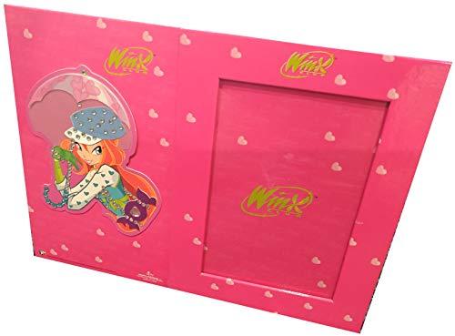 CARTORAMA Winx Club - Cornice 28x21 da Appendere o da Tavolo (con Vetro di Protezione per Foto 10x15) (Fucsia/Bloom)