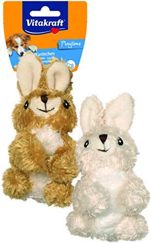Vitakraft - Juguete de Conejo de Peluche para Perro, Color A