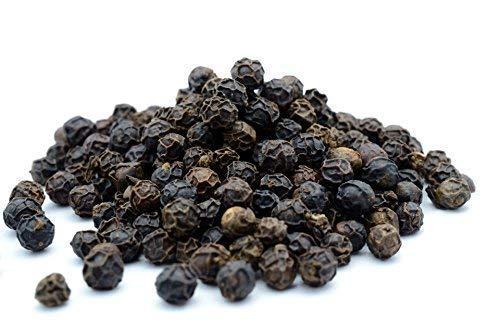 200g schwarzer Tellicherry Pfeffer ganz, ganze Pfefferkörner aus dem Periyar-Naturschutzgebiet in Indien – geeignet für die Mühle