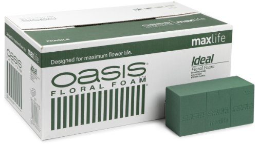 1 x Box of Genuine Oasis Wet Ideal Floral Florist Green Foam MaxLife Brick Fresh Flowers