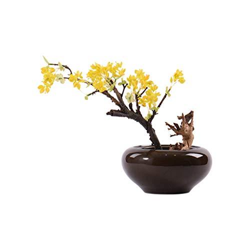 Skulptur Statue Dekoration Neue Chinesische Gelbe Obstbaum Bonsai Simulation Mikroblume Topf Modell Modell Wohnzimmer