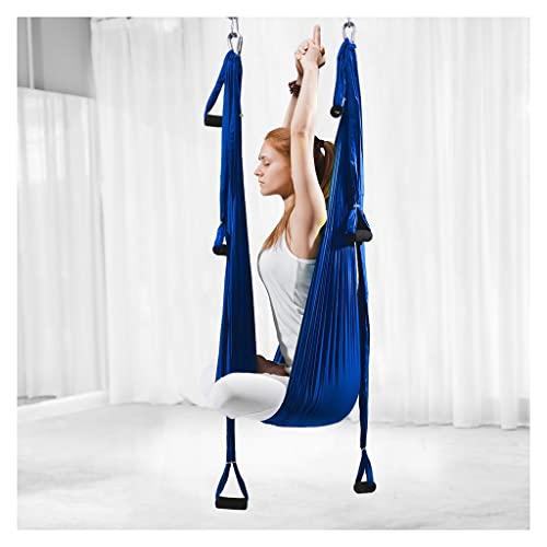 SYN-GUGAI Set Swing Yoga Aéreo Juego De Sling Hamaca Yoga con Instrucción Antigravity Colgando For La Integración Sensorial Yoga (Color : B)