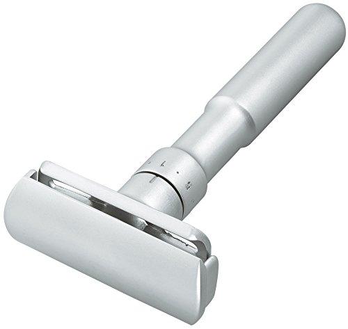 Merkur Futur Adjustable Safety Razor in Matt Chrome - No Blades Inclu