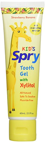 Spry Xlear Spry Tooth Gel with Xylitol, Strawberry Banana, 3...