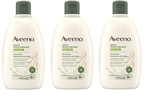 drei Packungen mit Aveeno Duschgel 500 ml
