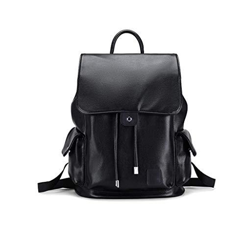 WYJW Unisex Casual Fashion Rugzak Travel Student Bag 14-inch laptoptas met USB-oplaadaansluiting waterdichte anti-diefstal PU-tas met grote capaciteit reistas bergbeklimmen