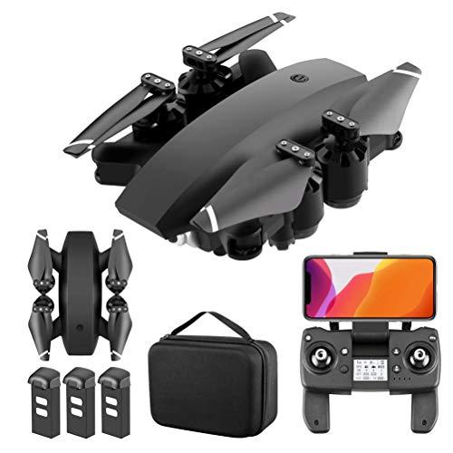 J-Love 5G WiFi FPV GPS Drones, con cámara Ultra Clara 4K Drone RC Quadcopter Plegable, Video en Vivo Gran Angular de110°, con cámaras duales, función Retorno una tecla