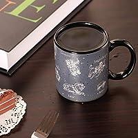 十二星座の変色の杯陶磁器マグカップのカップルの誕生日プレゼントの色のコップ