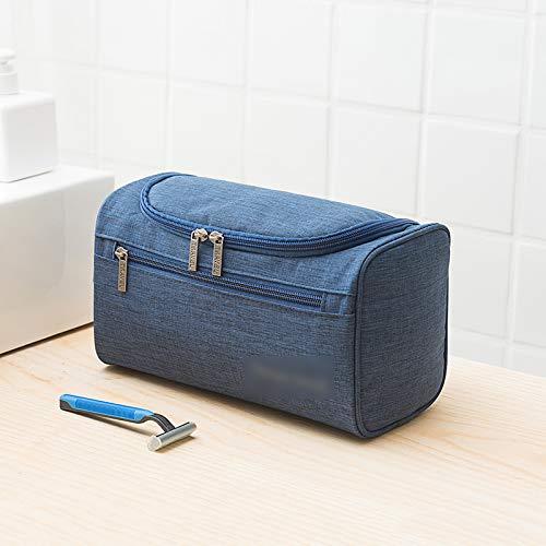 Bleu Pur Sac Cosmétique Portable Grande Capacité Voyage Simple Toilette Étanche Sac De Rangement 25 * 14 * 29Cm