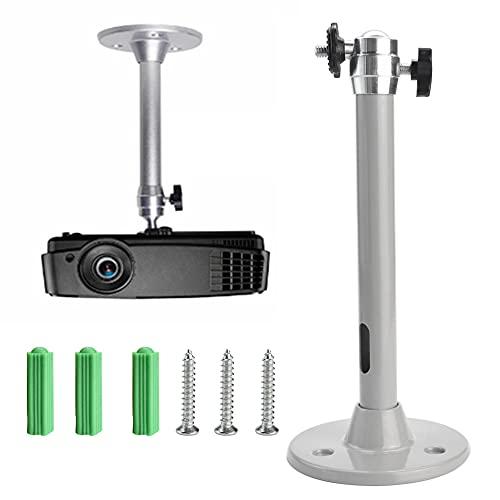 JUNMEIDO Mini Beamer Projektor Halterung, Projektor Deckenhalterung Aluminium ,Beamer Halterung Wandhalterung,Universal Projektorhalterung für Projektor Wall Ceiling Mount (Tragkraft 5kg)