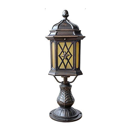 SPNEC Lámpara de Cabeza de Columna de Estilo Europeo Lámpara de Cabeza de Pared Lámpara de Columna de Valla Impermeable al Aire Libre Lámpara de jardín de Villa Cuadrada de Patio Exterior