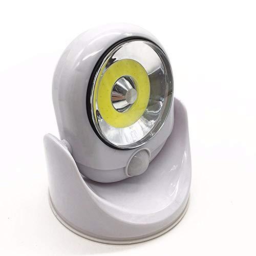 Aiserkly Lámpara LED giratoria de 360 grados con sensor de movimiento inalámbrico activado por movimiento