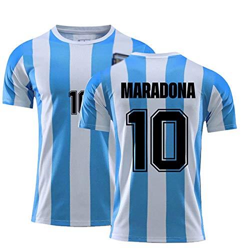 SZKQN Camiseta de fútbol de fútbol Retro, Argentina 1986 Copa del Mundo Maradonas 10 100% poliéster, Textura Suave, Fan Jersey blue10#-M