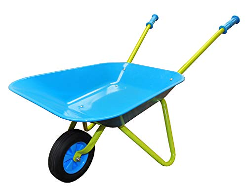 G & F Products G & F 10041 JustForKids Kids Wheel Barrel made of real metal kids size