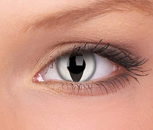 Halloween Kontaktlinse Lustige Linse Viper mit Dioptrien 3 Monate (Dioptrien: +00.00 / Radius: 8.6 / Zahlen: 14)