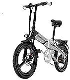 Bicicleta eléctrica de nieve, Bicicleta plegable eléctrica, inteligente bicicletas de montaña for adultos, 400W de aleación de aluminio de bicicletas extraíble 38V / 10.8Ah de iones de litio de 7 velo