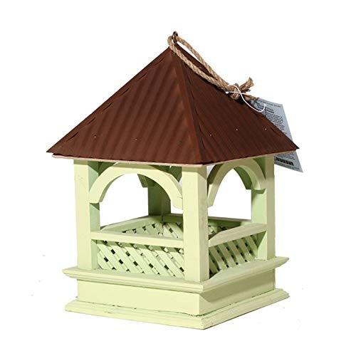 SqSYqz Comedero para pájaros Decorativo Colgante de Madera,Ideal para decoración al Aire Libre,hogar,Patio y jardín,comedero para pájaros de Madera Resistente para pájaros Silvestres