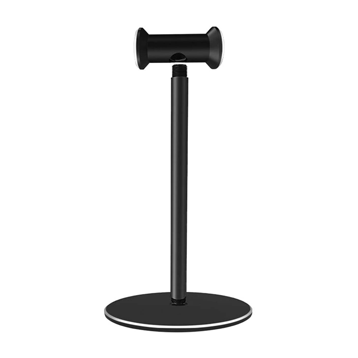 SuBoZhuLiuJ Headset Holder,Aluminium Alloy Headset Stand Holder Desktop Headphone Display Rack Organizer - Black