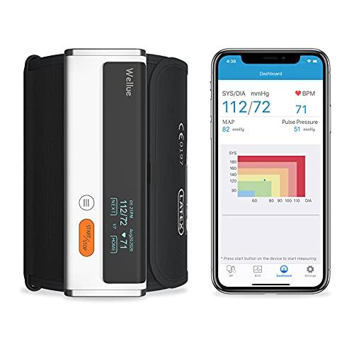 Wellue Armfit Plus Blood Pressure Monitor + EKG, Upper Arm Cuff BP Machine, EKG Monitor, Normal Heart Rhythm in 30 Seconds, Built-in Bluetooth with...