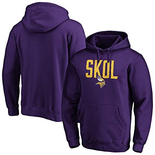 Fanatics NFL Football Hoody Minnesota Vikings Hometown SKOL Hooded Sweater Pullover (XL)