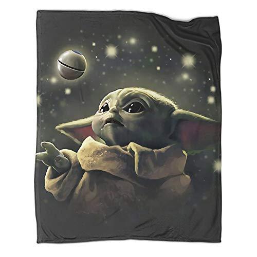Weiche Plüschdecke Star Wars The Mandalorian Baby Yoda Poster Camping Survival and First Aid Decke 76,2 x 100,6 cm